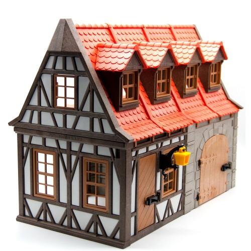 7145 - Establo Medieval - Playmobil - Segunda Mano