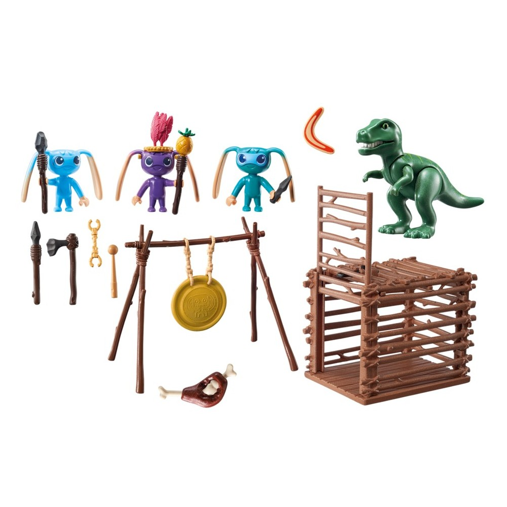trangers de guerrier avec pi ge playmobil de t rex super 4 nouveaut 2017 playmobileros. Black Bedroom Furniture Sets. Home Design Ideas