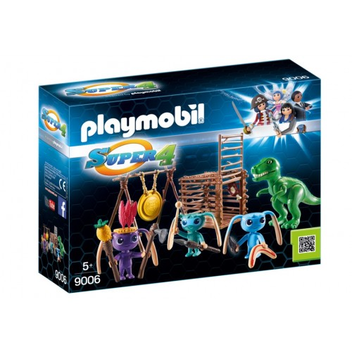 Warrior aliens with trap T-Rex – Super 4 - Playmobil novelty 2017