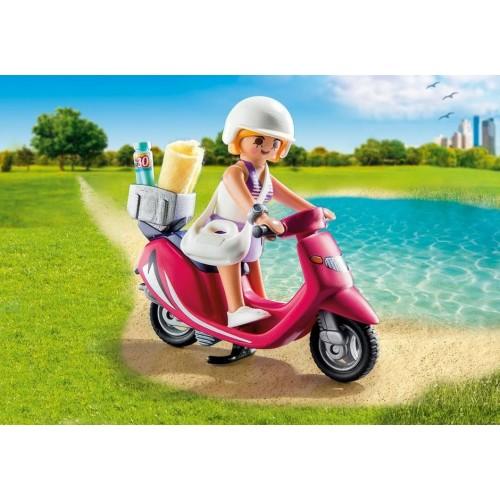9084 ragazza t-shirt con Scooter - nuovo Playmobil 2017