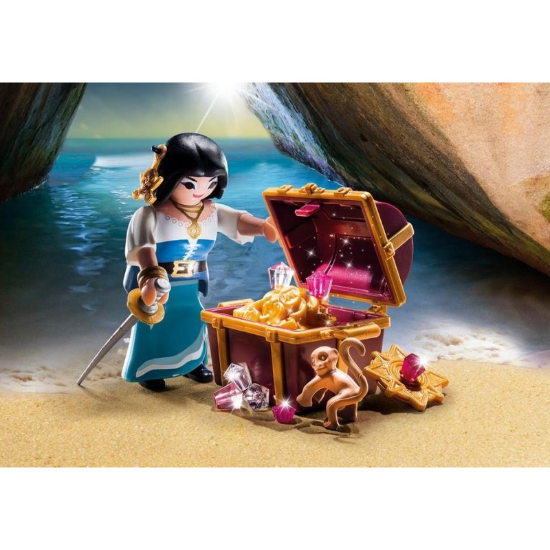 9087 female pirate with treasure - new Playmobil Germany 2017