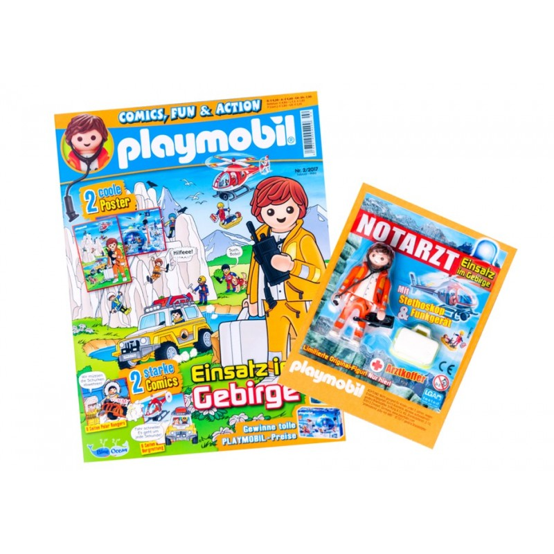 80586 - Revista Play mobil 02/2017 - (German Version) - Regalo Médico de Emergencias