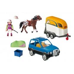 5223 - Vehículo con Remolque Ponis - Playmobil