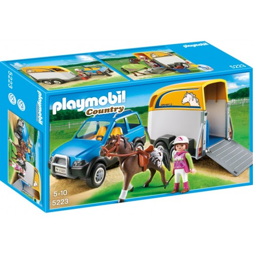 5223 vehicle with trailer ponies - Playmobil