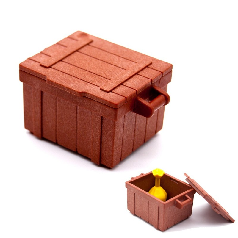 Playmobil Western Chest Crate Box Brown