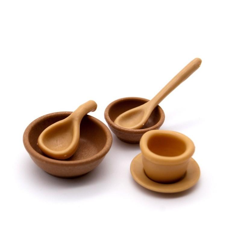 Cubiertos y utensilios cocina madera playmobil for Utensilios de cocina licuadora