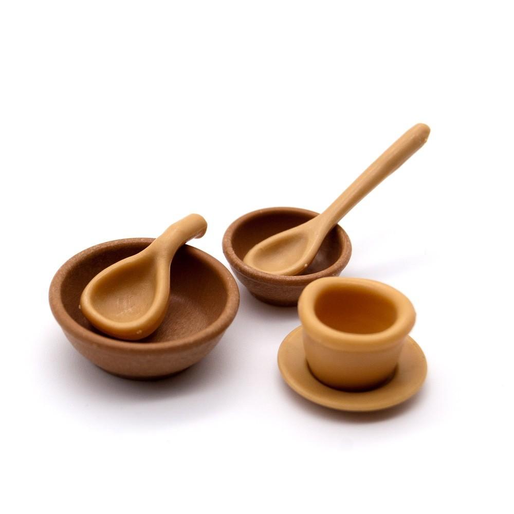 Cubiertos y utensilios cocina madera playmobil for Utensilios de cocina artesanales