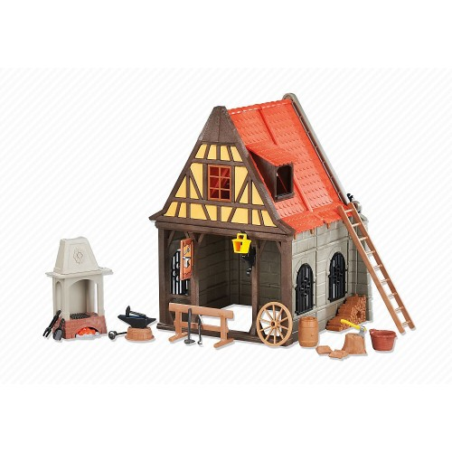 Fabbro medioevale 6329 - forgia - Playmobil