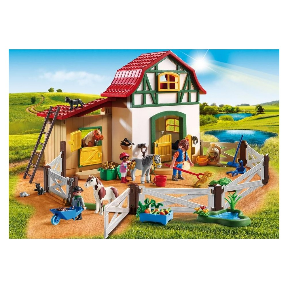 6927 granja de ponis playmobil playmobileros for Modernes lego haus