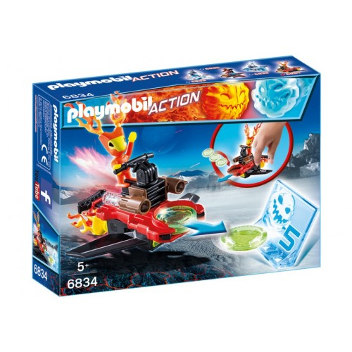 6834 robot fire with launcher - Playmobil