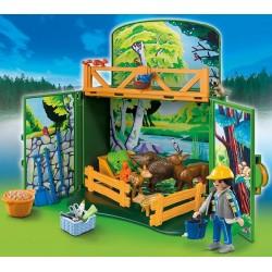 6158 animali di badante valigetta della foresta - Playmobil