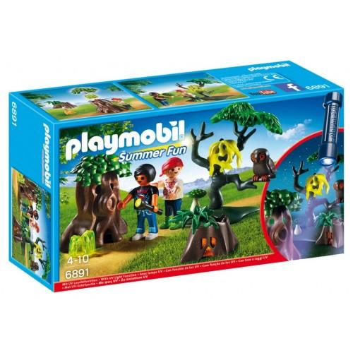 6891 bambini guidare di notte con la torcia elettrica Led - Playmobil