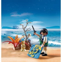 4945 pirate map treasure format egg - Playmobil