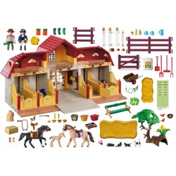 5221 con stabile - Playmobil fattoria pony