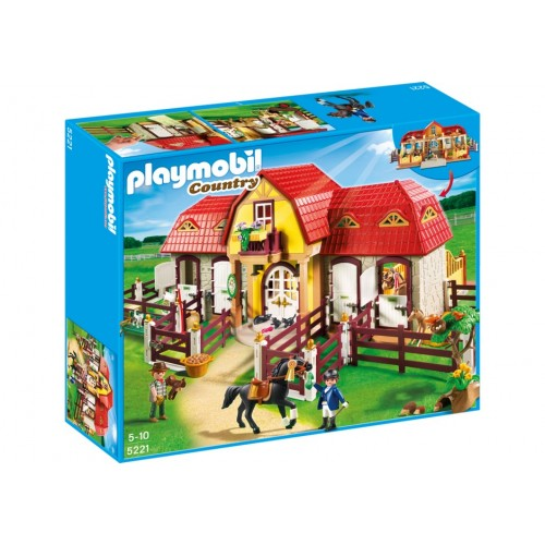 5221 with stable - Playmobil pony farm