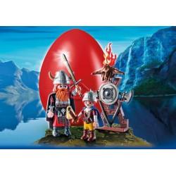 9209 chef Viking et fils - Playmobil