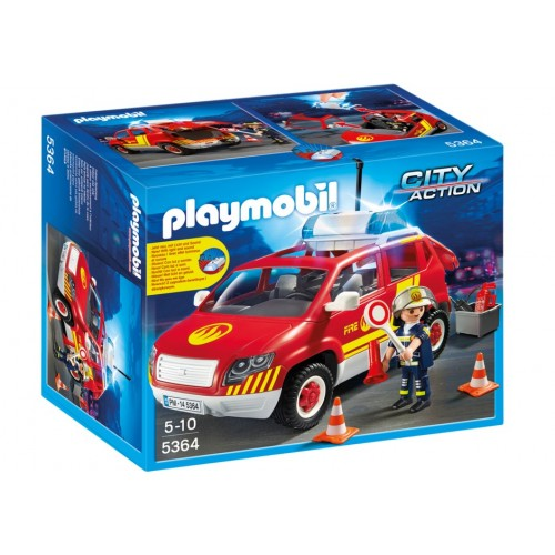 5364 car fire chief with lights and siren - Playmobil