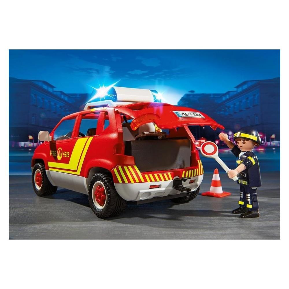 chef des pompiers 5364 voiture avec feux et sir ne playmobil playmobileros tienda de. Black Bedroom Furniture Sets. Home Design Ideas