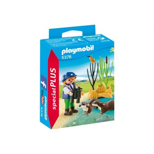 5376 browser di bambino con lontre - speciale Plus Playmobil