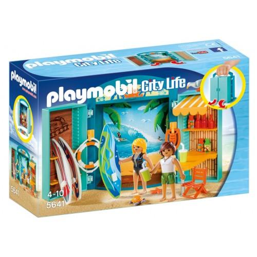 5641 valigetta Surf Shop sulla spiaggia - Playmobil