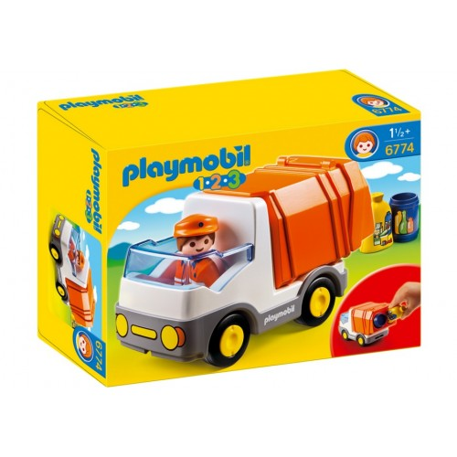 6774 immondizia 1.2.3 - Playmobil camion