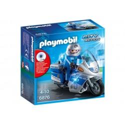 6876 - Moto de Policía con Luces Led - Playmobil