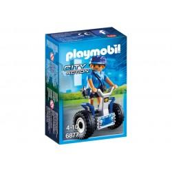 6877 policewoman with Segway - Playmobil