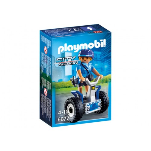 6877 policewoman with Segway - Playmobil