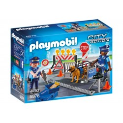 6878 - Control de Policía con Bloqueo Calle - Playmobil
