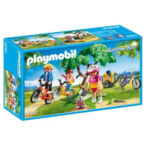 6890 famiglia campeggio bike - Playmobil