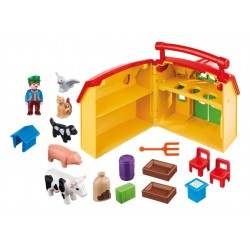 6962 fattoria valigetta 1.2.3 - Playmobil