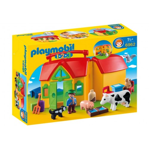 6962 farm Briefcase 1.2.3 - Playmobil