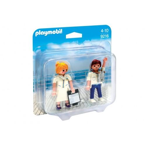 9216 - Duopack Capitán de Barco y Azafata - Playmobil