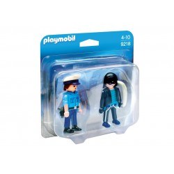 9218 - Duopack Policía y Ladrón - Playmobil