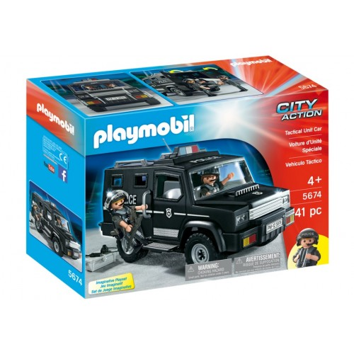 5674. Police Tactical vehicle - exclusive us - Playmobil