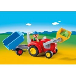 6964 trattore con rimorchio 1.2.3 - Playmobil