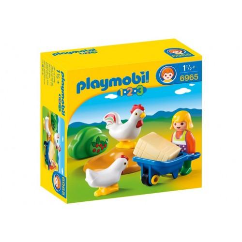 6965 fattoria con galline 1.2.3 - Playmobil