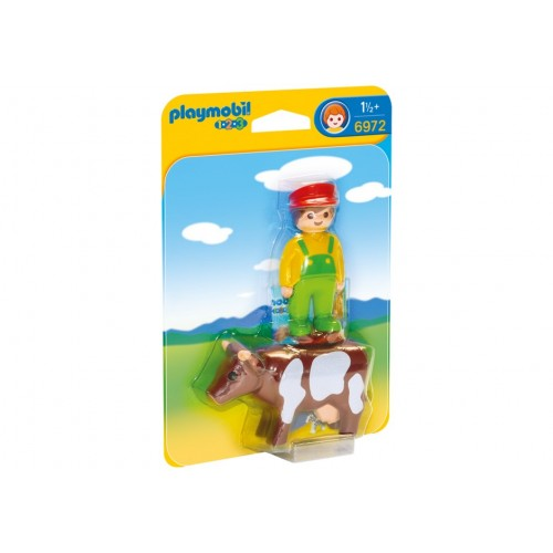 6972 farmer with cow 1.2.3 - Playmobil