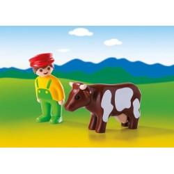 6972 coltivatore con la mucca 1.2.3 - Playmobil