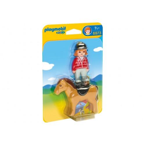 6973 Jinente con cavallo 1.2.3 - Playmobil