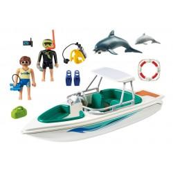 6981 squadra della barca per le immersioni - Playmobil