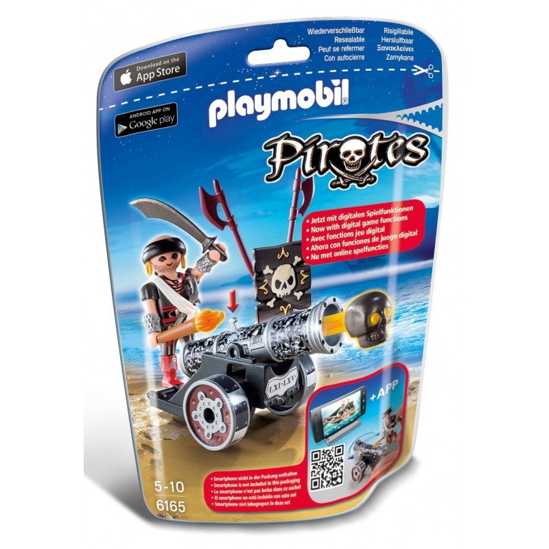6165 - Cañón Negro Interactivo con Bucanero - Playmobil