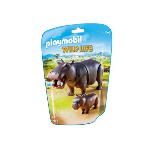 6945 - Hipopótamos Sabana Africana - Playmobil