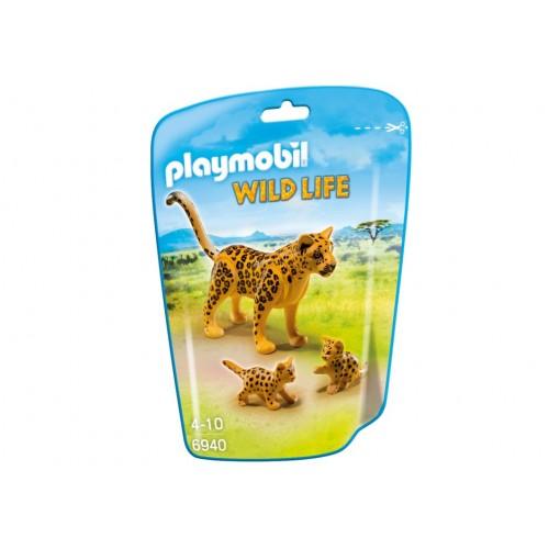 6940 - Leopardo con Crías - Playmobil