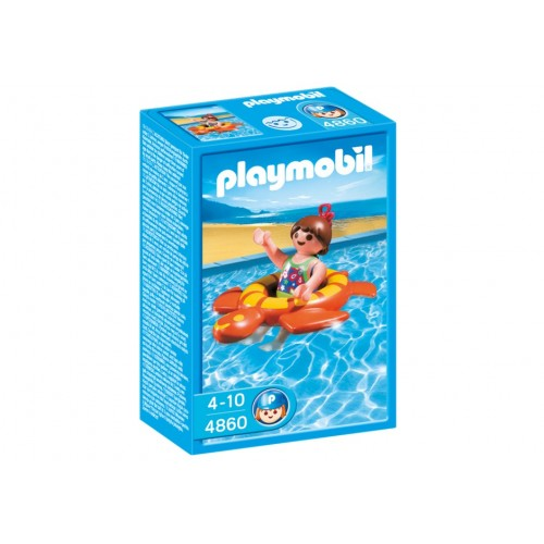 4860 - Niña con Flotador Tortuga - Playmobil