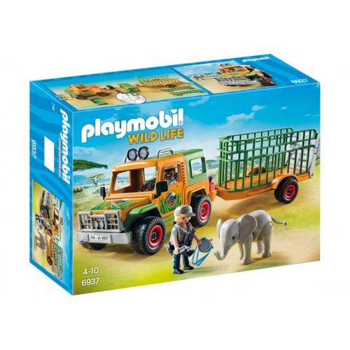 6937 - Camión con Elefante Africano - Playmobil