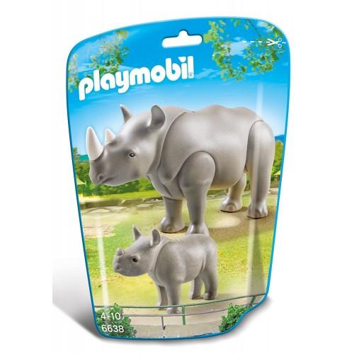 6638 - Rinoceronte con Cría - Playmobil