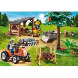 6814 - Leñador con Tractor - Playmobil