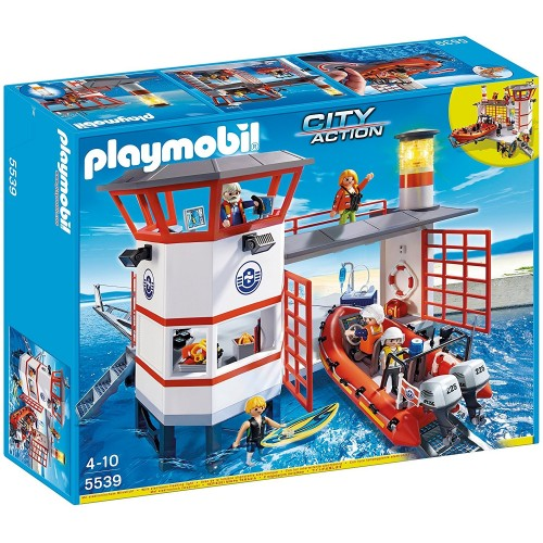 5539 - Guardacostas con Faro y Luz Led - Playmobil