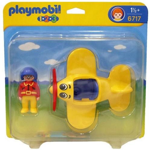 6717 - Piloto con Avión - 1.2.3 - Playmobil